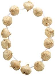 Garlic is not only Healthy But As A Garlic Necklace They Will Keep Vampires Away. :-)