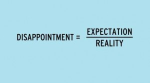 Disappointment, Expectation, Reality