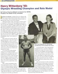 Henry Wittenberg 1958 Article