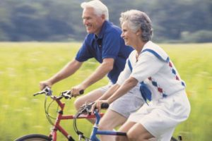 Seniors Cycling for Fun and Health